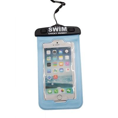 Waterdicht telefoonhoesje blauw