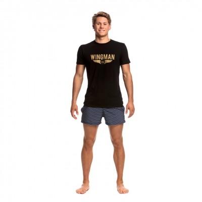 Gold Wingman Crew Neck T-Shirt