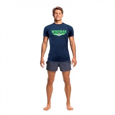 Navy Wingman Crew Neck T-Shirt